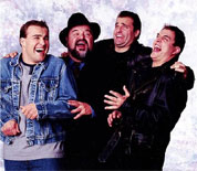 Dom DeLuise with sons David, Peter and Michael