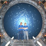 Darren and David on the set of Stargate SG-1