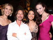 Elyse poses with her cast mates at the SGU launch party in San Diego.