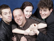 Blue with GateWorld's Chad Colvin, Brian J. Smith and Elyse Levesque at Creation Vancouver 2010