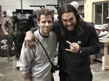Jason Momoa and Zack Snyder (February 2016)