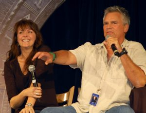 Richard Dean Anderson and Amanda Tapping (Gatecon 2008)