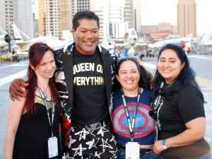 Chris Judge Poses with Fans