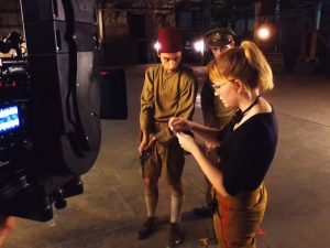 Mercedes Bryce Morgan (Stargate Origins on Set)