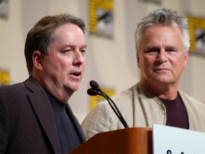 Brad Wright and Richard Dean Anderson (San Diego Comic-Con 2008)