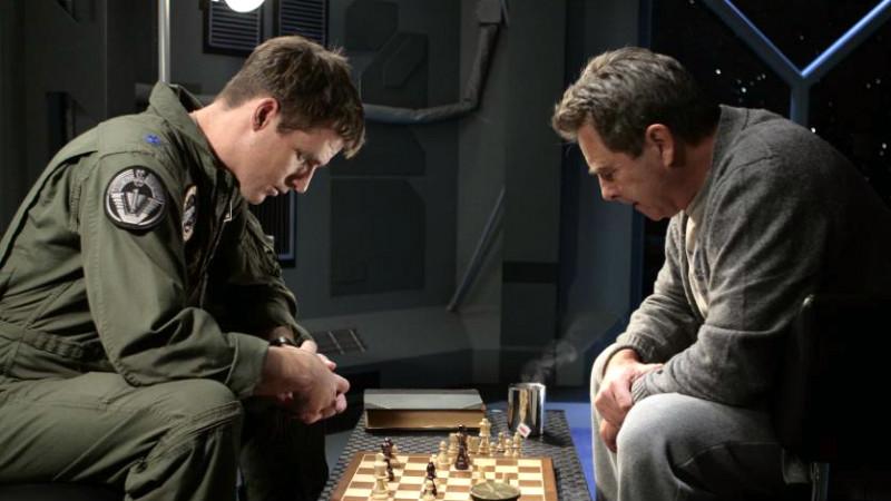 "Mitchell and Landry playing chess (""Unending"")"