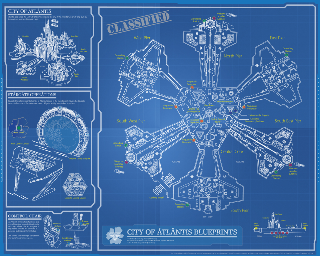 Stargate Atlantis: Download The City Blueprints » GateWorld