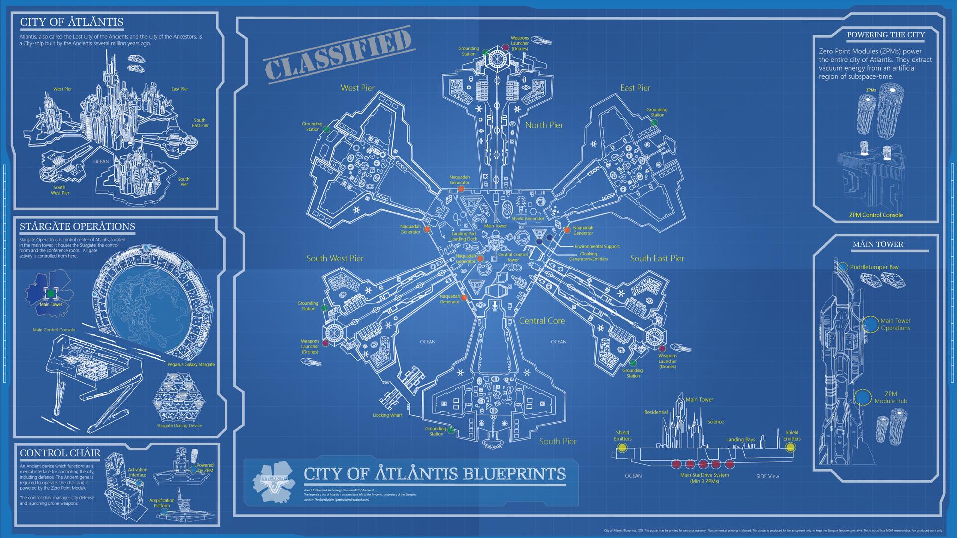Stargate Atlantis: Download The City Blueprints » GateWorld