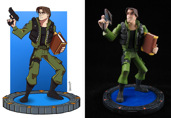 Daniel Jackson sketch and maquette (Quantum Mechanix)