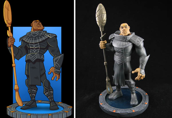 Teal'c sketch and maquette (Quantum Mechanix)