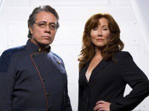 Adama and Roslin (Battlestar Galactica)