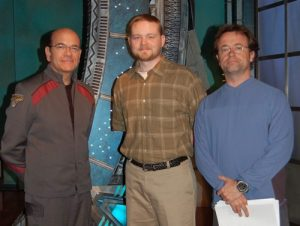 Darren on set with Robert Picardo and David Nykl (2008)