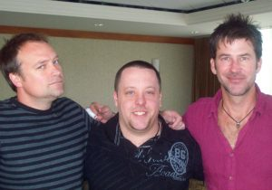 Chad Colvin with David Hewlett and Joe Flanigan (2011)