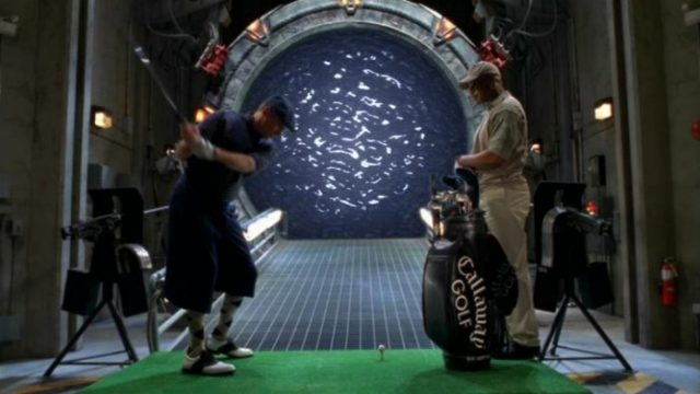 "Jack and Teal'c golfing (""Window of Opportunity"")"