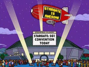 The Simpsons' Stargate convention