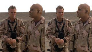 "Stargate SG-1 AI upscaling comparison (""Exodus"")"