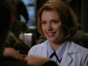 """Teryl Rothery as Janet Fraiser (""""Heroes, Part 1"""")"""