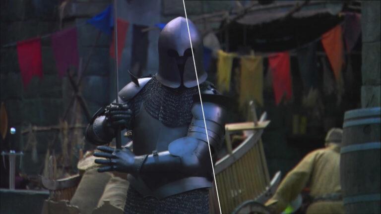 """SG-1 DVD vs. Blu-ray Picture Comparison (""""Camelot"""" Blu-ray Edition - Black Knight)"""