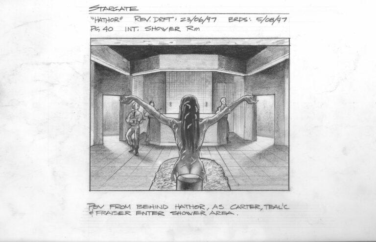 """Hathor"" storyboards (Stargate SG-1)"