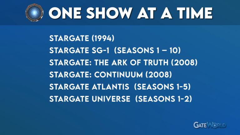 Stargate Watch Order: One Show At A Time