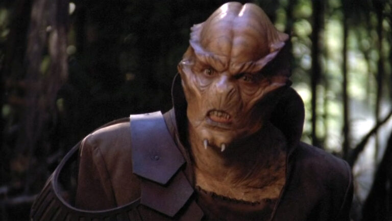 """Patrick Currie as the Unas Chaka (""""Enemy Mine"""")"""