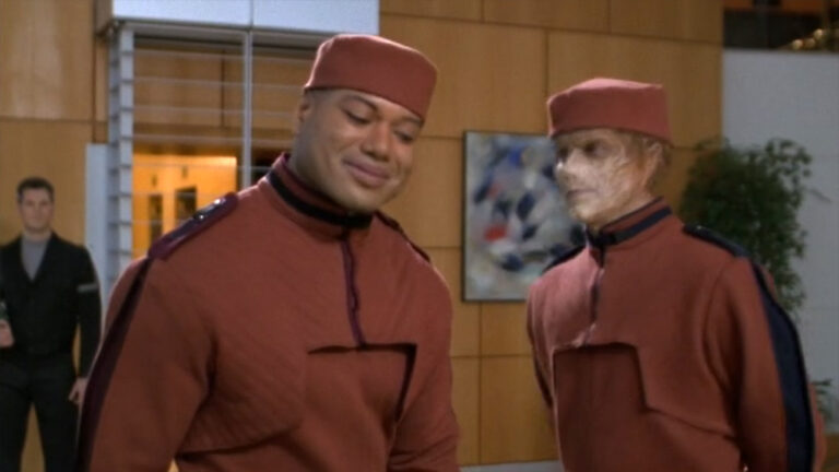 """Eamon and Teal'c (""""Space Race"""")"""