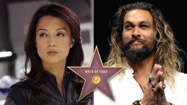 Ming-Na Wen and Jason Momoa (Hollywood Walk of Fame)