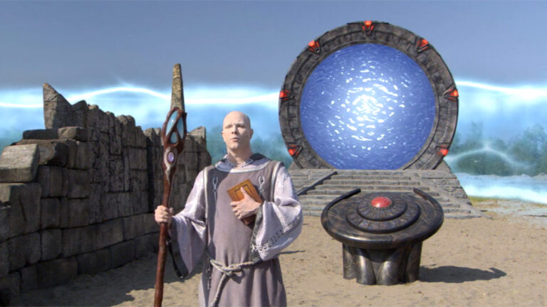 """Prior in front of the Stargate (""""Beachhead"""")"""